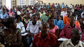 Photograph of students at a lecture