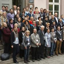 The OpenAIRE team at an OpenAIRE conference at Göttingen State and University Library, November 20, 2012