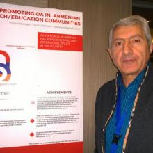 Tigran Zargaryan, Director at National Library of Armenia, presenting the open access portal project at the EIFL General Assembly.