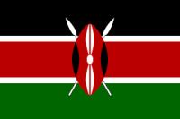 Kenya flag black, rad and green horizontal stripes