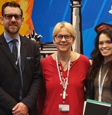 Members of the DC-PAL at the IGF2019 in Berlin, Germany. From left, Stuart Hamilton, Ramune Petuchovaite and Valensiya Dresvyannikova.
