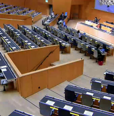 To prevent the spread of COVID-19, WIPO SCCR/40 met in hybrid mode, with physical participation limited to a small number of Geneva-based member state delegates, and everyone else participating remotely.