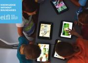 Cover of report showing picture of children looking at tablet computers.
