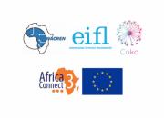 Logos of WACREN. EIFL, Coko Foundation and Libsense