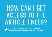 A preview of the poster heading 'How can I get access to the article I need?'
