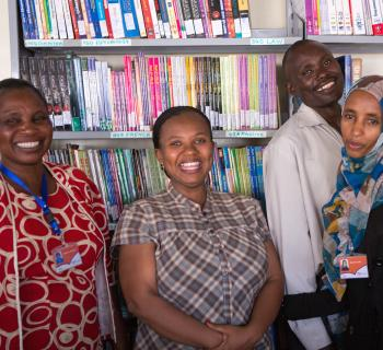 Librarians from Kibera Public Library.