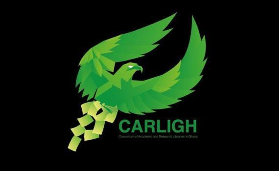 Carligh Logo - a bird of prey on a black background!