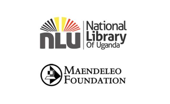Logos of National Library of Uganda and the Maendeleo Foundation.