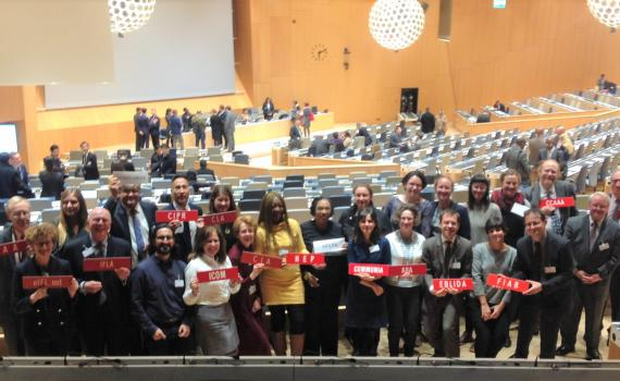 Group of representatives from the library, archive, museum and education sectors advocate for copyright limitations and exceptions at SCCR/35.