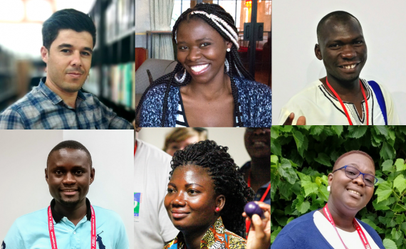The six scholarship winners