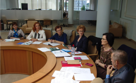 Delegates to the meeting in the National Library.