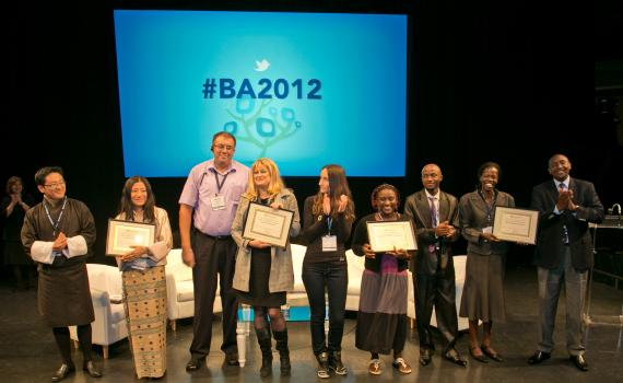 Award presentation during Beyond Access 2012 of five public and community libraries who won grants of US$10,000.