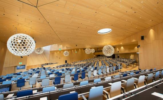 Photo of WIPO conference hall